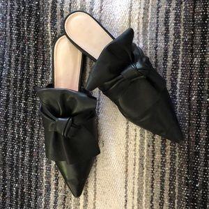 Zara TRF black leather mules